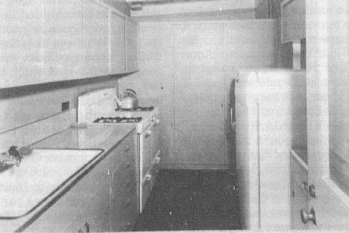 Kitchen of family quarters
