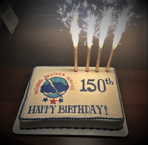 Birthday Cake - Celebrating the National Weather Service's 150th Birthday on Feb. 9, 2020